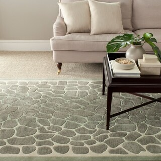 Martha Stewart Arusha Grassland Green Wool/ Viscose Rug (5' x 8')