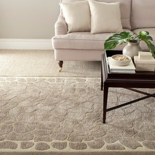 Martha Stewart Arusha Wheat Beige Wool/ Viscose Rug (9' 6 x 13' 6)
