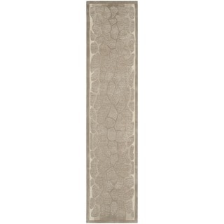 Martha Stewart Arusha Wheat Beige Wool/ Viscose Rug (2' 3 x 10')
