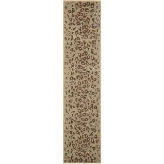 Martha Stewart Kalahari Grassland Green Wool/ Viscose Rug (2' 3 x 10')