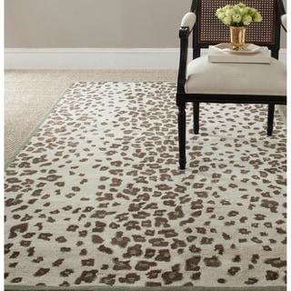 Martha Stewart Kalahari Grassland Green Wool/ Viscose Rug (5' x 8')