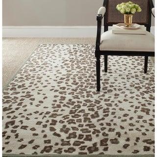 Martha Stewart Kalahari Grassland Green Wool/ Viscose Rug (8' x 10')