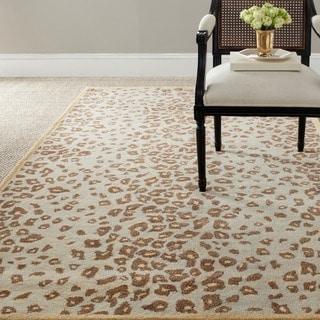 Martha Stewart Kalahari Horizon Sand Beige Wool/ Viscose Rug (2' 6 x 4' 3)