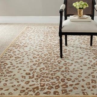 Martha Stewart Kalahari Horizon Sand Beige Wool/ Viscose Rug (4' x 6')