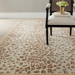Martha Stewart Kalahari Horizon Sand Beige Wool and Viscose Rug (9' x 12')
