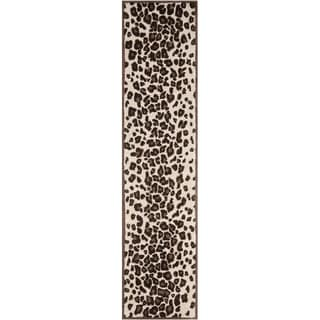 Martha Stewart Kalahari Sequoia Brown Wool and Viscose Rug (2' 3 x 10')