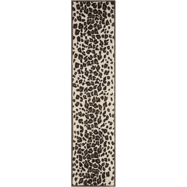 Martha Stewart Kalahari Sequoia Brown Wool and Viscose Rug (2' 3 x 10')