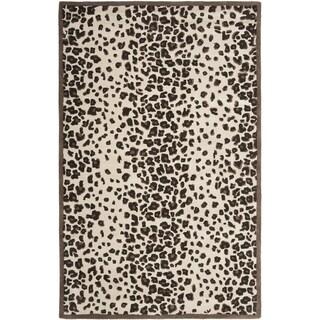 Martha Stewart Kalahari Sequoia Brown Wool and Viscose Rug (4' x 6')