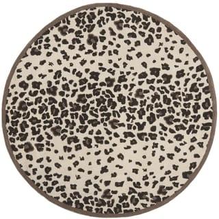 Martha Stewart Kalahari Sequoia Brown Wool/ Viscose Rug (6' Round)