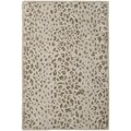 Martha Stewart Kalahari Sharkey Grey Wool/ Viscose Rug (2' 6 x 4' 3)