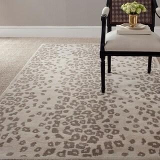 Martha Stewart Kalahari Sharkey Grey Wool/ Viscose Rug (4' x 6')