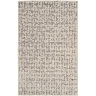 Martha Stewart Mosaic Purple Agate Wool and Viscose Rug (9' 6 x 13' 6)