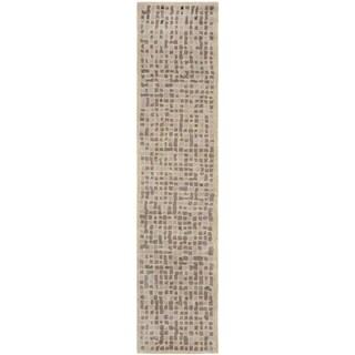 Martha Stewart Mosaic Purple Agate Wool/ Viscose Rug (2' 3 x 10')