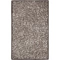 Martha Stewart Mosaic Wampum Purple Wool and Viscose Rug (9' x 12')