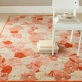 Martha Stewart Poppy Field Cayenne Red Wool/ Viscose Rug (4' x 6')