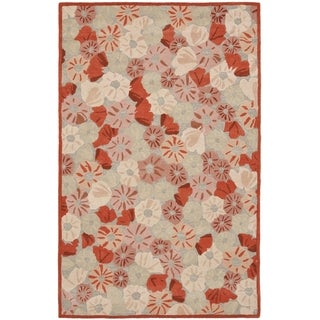 Martha Stewart Poppy Field Cayenne Red Wool/ Viscose Rug (9' x 12')