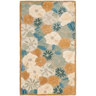 Martha Stewart Poppy Field Cornucopia Beige Wool/ Viscose Rug (2' 6 x 4' 3)