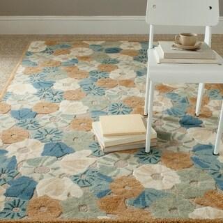 Martha Stewart Poppy Field Cornucopia Beige Wool/ Viscose Rug (4' x 6')