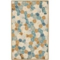 Martha Stewart Poppy Field Cornucopia Beige Wool and Viscose Rug (5' x 8')