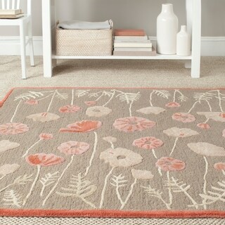Martha Stewart Poppy Glossary Cayenne Red Wool/ Viscose Rug (4' x 6')