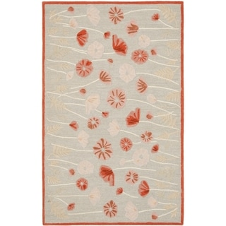 Martha Stewart Poppy Glossary Cayenne Red Wool/ Viscose Rug (5' x 8')