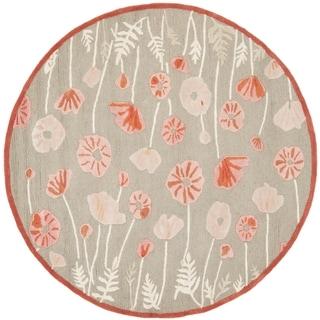 Martha Stewart Poppy Glossary Cayenne Red Wool/ Viscose Rug (6' Round)