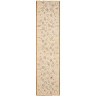 Martha Stewart Poppy Glossary Nutshell/ Brown Wool/ Viscose Rug (2' 3 x 10')