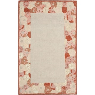 Martha Stewart Poppy Border Cayenne Red Wool/ Viscose Rug (9' x 12')