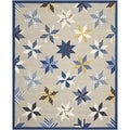 Martha Stewart Lemoyne Star Azurite Blue Wool Rug (9' 6 x 13' 6)
