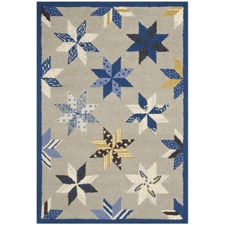 Martha Stewart Lemoyne Star Azurite Blue Wool Rug (4' x 6')