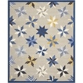 Martha Stewart Lemoyne Star Azurite Blue Wool Rug (9' x 12')