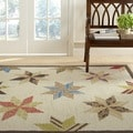 Martha Stewart Lemoyne Star Bone Foler Wheat Wool Rug (9' 6 x 13' 6)