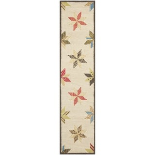 Martha Stewart Lemoyne Star Bone Foler Wheat Wool Rug (2' 3 x 10')