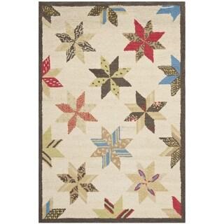 Martha Stewart Lemoyne Star Bone Foler Wheat Wool Rug (2' 6 x 4' 3)
