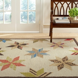 Martha Stewart Lemoyne Star Bone Foler Wheat Wool Rug (8' x 10')
