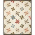 Martha Stewart Lemoyne Star Bone Foler Wheat Wool Rug (9' x 12')