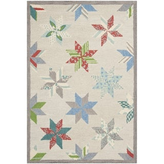 Martha Stewart Lemoyne Star Pewter Grey Wool Rug (4' x 6')