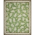 Martha Stewart Fern Frolic China Green Wool Rug (9' 6 x 13' 6)