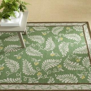 Martha Stewart Fern Frolic China Green Wool Rug (9' 6 x 13' 6)