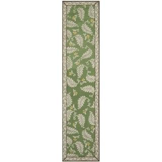 Martha Stewart Fern Frolic China Green Wool Rug (2' 3 x 10')