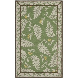 Martha Stewart Fern Frolic China Green Wool Rug (2' 6 x 4' 3)