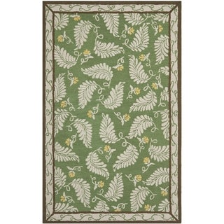 Martha Stewart Fern Frolic China Green Wool Rug (4' x 6')