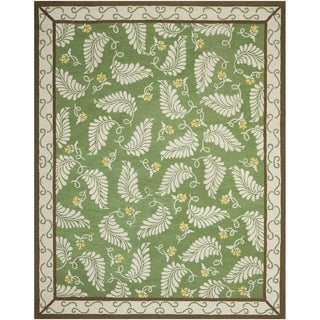 Martha Stewart Fern Frolic China Green Wool Rug (8' x 10')