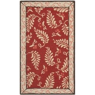 Martha Stewart Fern Frolic Saffron Red Wool Rug (2' 6 x 4' 3)