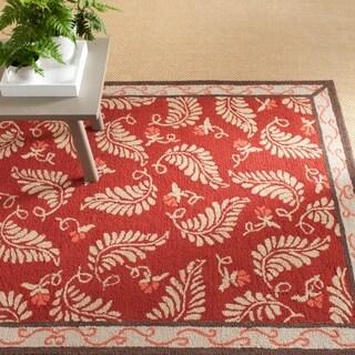 Martha Stewart Fern Frolic Saffron Red Wool Rug (5' x 8')