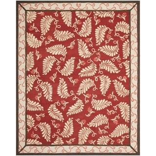 Martha Stewart Fern Frolic Saffron Red Wool Rug (9' x 12')