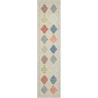 Martha Stewart Patchwork Pewter Grey Wool Rug (2' 3 x 10')