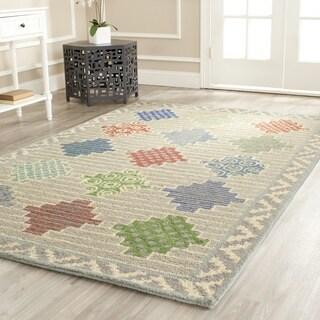 Martha Stewart Patchwork Pewter Grey Wool Rug (4' x 6')