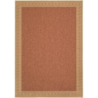 Martha Stewart Byzantium Terracotta/ Beige Indoor/ Outdoor Rug (4' x 5' 7)