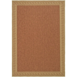 Martha Stewart Byzantium Terracotta/ Beige Indoor/ Outdoor Rug (6' 7 x 9' 6)